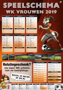WK Speelschema poster