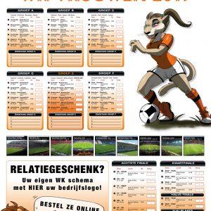 WK speelschema kalender
